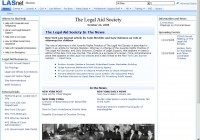 Legal Aid Society of NY – SharePoint Portal (MOSS 2007)